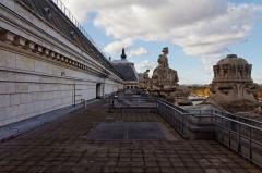 Ancienne gare d'Orsay, actuellement musée d'Orsay -  La terrasse du musée d'Orsay.