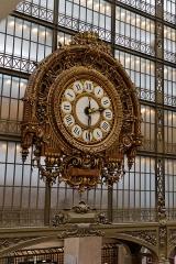 Ancienne gare d'Orsay, actuellement musée d'Orsay -  La grande horloge du musée d'Orsay.