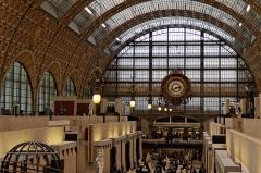 Ancienne gare d'Orsay, actuellement musée d'Orsay -  Le hall du musée d'Orsay.