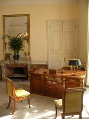 Anciens hôtels de Brienne et de Broglie, actuellement ministère de la défense - Bureau Clemenceau de l'Hôtel de Brienne