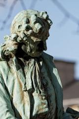 Hôtel des Invalides - English: Ernest Henri Dubois (French, 1863-1930), statue of Jules Hardouin-Mansart, 1908, bronze, Jardin de l'Intendant, Hôtel des Invalides, VIIe arrondissement, Paris, France.