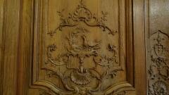 Hôtel de Noirmoutier ou de Sens, actuellement résidence du préfet de région - fable de La Fontaine, la poule aux œufs d'or, Boiseries de la salle à manger de l'Hôtel de Noirmoutier, Paris