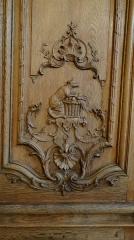 Hôtel de Noirmoutier ou de Sens, actuellement résidence du préfet de région - fable de La Fontaine, le renard et les raisins, Boiseries de la salle à manger de l'Hôtel de Noirmoutier, Paris
