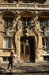 Immeuble - English: Lavirotte building located at 29 avenue Rapp in the 7th district of Paris, France Built by architecte Jules Lavirotte in 1900 Art Nouveau style