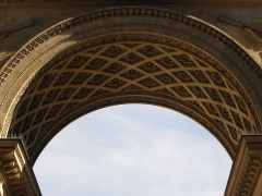 Ancien hôtel de Salm, actuel Palais de la Légion d'Honneur - Français:   Voussure de l\'arc de triomphe à l\'entrée de l\'Hôtel de Salm, Palais de la Légion d\'Honneur à Paris (75007).