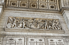 Arc de Triomphe de l'Etoile - This building is indexed in the Base Mérimée, a database of architectural heritage maintained by the French Ministry of Culture,under the reference PA00088804 .