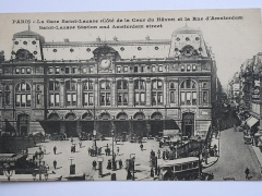 Gare Saint-Lazare - English: Paris Saint-Lazare station (cour du Havre) and Amsterdam street.