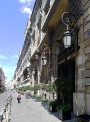 Hôtel Crillon - English: Boissy-d'Anglas street (n°2, hôtel Crillon) - Paris