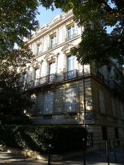 Immeuble ou hôtel Talhouet - Français:   Immeuble à l\'angle du 1 avenue de Marigny et du 34 avenue Gabriel à Paris (Inscrit)