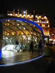 Métropolitain, station Saint-Lazare -  Paris Métro Entrée Station gare Saint-Lazare