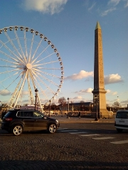 Obélisque de Louqsor - L'obélisque et Grande roue  de la Place de la Concorde, Place de la Concorde à 8e arrondissement de Paris