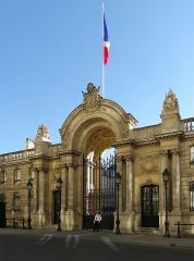 Palais de l'Elysée - Français:   Grille d\'honneur du Palais de l\'Élysée (Classé)