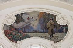 Petit Palais, actuellement musée des Beaux-Arts de la Ville de Paris -  Une fresque de Ferdinand Humbert ornant un des plafonds du Petit Palais.