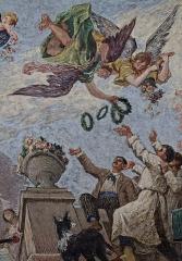 Petit Palais, actuellement musée des Beaux-Arts de la Ville de Paris -  Détail d'une fresque de Ferdinand Humbert ornant un des plafonds du Petit Palais.
