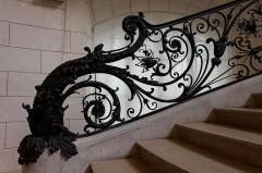 Petit Palais, actuellement musée des Beaux-Arts de la Ville de Paris -  Vue de l'escalier du pavillon nord.
