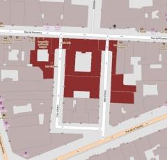 Cité d'Antin - English: Cité d'Antin: 57, 59, 61 rue de Provence; 1 à 7, 16, 18, 35, 37 cité d'Antin, Paris, France.