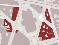 Immeubles aux abords de l'Opéra (voir aussi : 25, 27, 29, 31 bd Haussmann, Immeuble de la Société Générale) - English: Buildings: 3, 5, 7 rue Auber; 1 rue Boudreau; 4, 6, 8 boulevard des Capucines; 3-13 rue de la Chaussée-d'Antin; 2-16 rue Halévy; 1 rue des Mathurins; 1, 2, 3, 4, 5, 7 rue Meyerbeer; 6, 11, 11 bis, 15, 17 rue Scribe, Paris, France.