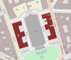 Immeubles aux abords de l'église de la Trinité - English: Buildings: 7, 8 place d'Estienne-d'Orves, 1, 3, 5, 7 rue Blanche, 2, 4, 6, 8 rue de Cheverus, 1, 3 rue de la Trinité, 1, 3, 5, 7 rue Morlot, 2, 4, 6, 8 rue de Clichy, Paris, France.