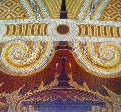 Immeuble de la Société Générale - English: Société Générale Headquarters, Paris IXe arrondissement, France. Detail of the floor mosaic.