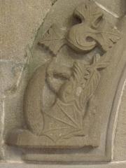 Eglise Saint-Malo - Français:   Détail sculpté d\'une des portes de la sacristie de l\'église Saint-Malo de Dinan (22).