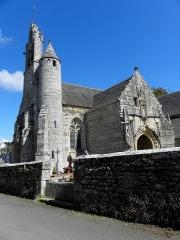 Eglise Saint-Loup - Français:   Église Saint-Loup de Lanloup (22). Clocher et porche sud.