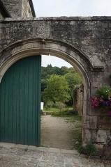Ruines de l'ancien prieuré royal de Saint-Magloire - Léhon.- P'enceinte dans le mur d'enceinte de l'abbatiale de Abbatiale Saint-Magloire