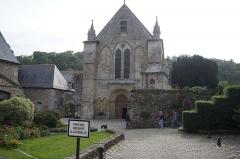 Ruines de l'ancien prieuré royal de Saint-Magloire - Façade de l'Abbaye de Léhon
