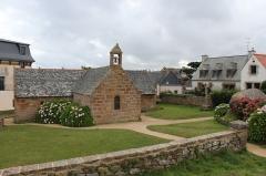 Calvaire, à Ploumanac'h, dans l'enclos de la chapelle Saint-Guirec - Français:   Chapelle Saint-Guirec et son calvaire à Perros-Guirec.