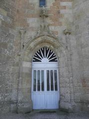 Chapelle de Notre-Dame de la Clarté - Français:   Chapelle Notre-Dame-de-la-Clarté en Perros-Guirec (22). Porte du clocher.