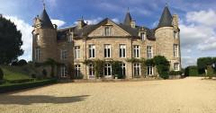 Château de Kergrist - Deutsch: Gartenansicht vom Château Kergrist