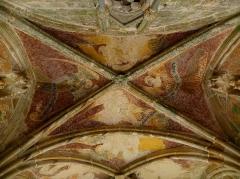 Chapelle de Kermaria-an'Isquit - Français:   Fresques du porche sud de la chapelle de Kermaria-an-Isquit, commune de Plouha (22).