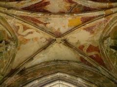 Chapelle de Kermaria-an'Isquit - Fresques du porche sud de la chapelle de Kermaria-an-Isquit, commune de Plouha (22).