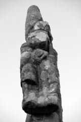 Croix du 17e siècle dite Croix de la Sauraie - Français:   Croix de la Sauraie, Kermaria (route de) (Inscription, 1926)