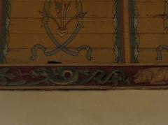 Eglise Notre-Dame et cimetière - Français:   Dragon. Sablière de la nef de l\'église Notre-Dame de Runan (22).