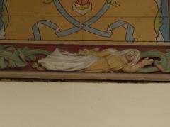 Eglise Notre-Dame et cimetière - Français:   Vierge. Sablière de la nef de l\'église Notre-Dame de Runan (22).