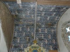 Eglise Notre-Dame et cimetière - Français:   Douvis de la chapelle de la Vierge de l\'église Notre-Dame de Runan (22).