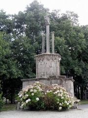 Eglise Notre-Dame et cimetière - Chaire-calvaire de l'église Notre-Dame de Runan (22).