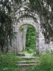 Ancienne église Saint-André - Ancienne église de Saint-André-des-Eaux (22). Porte de la costale sud de la nef.