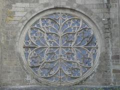 Cathédrale Saint-Etienne - Rosace de la façade occidentale de la cathédrale Saint-Étienne de Saint-Brieuc (22).