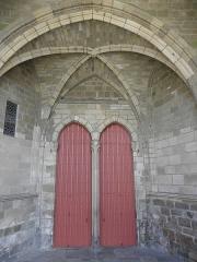 Cathédrale Saint-Etienne - Portail central de la façade occidentale de la cathédrale Saint-Étienne de Saint-Brieuc (22).