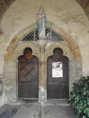 Eglise Saint-Gilles - Français:   Église Saint-Gilles de Saint-Gilles-les-Bois (22). Ports jumelées du porche sud.
