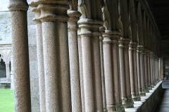 Ancienne cathédrale Saint-Tugdual et cloître - Français:   Cathédrale Saint-Tugdual de Tréguier - Tréguier - Côtes d\'Armor - France. Colonnettes de la galerie ouest du cloître.
