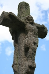 Ancienne cathédrale Saint-Tugdual et cloître - Français:   Cathédrale Saint-Tugdual de Tréguier - Tréguier - Côtes d\'Armor - France. Partie sommitale de la croix du cloître.