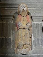 Eglise Notre-Dame - Fonts baptismaux de l'église Notre-Dame de Bodilis (29).Saint-Marc.