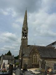 Eglise Notre-Dame -  Brennilis: L'église, partie ouest, et son clocher