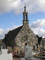 Chapelle Sainte-Nonne - Français:   Façade occidentale de la chapelle Sainte-Nonne de Dirinon (29).