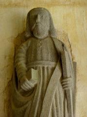 Eglise Sainte-Nonne et Saint-Divy - Saint-André. Porche des apôtres de l'église Sainte-Nonne de Dirinon (29).