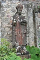 Ancienne abbaye de Saint-Guénolé -  Statue of Saint Winwaloe (or, in French, Saint Guénolé), Abbey of Landévennec.
