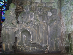 Chapelle Notre-Dame-de-Bonne-Nouvelle - Français:   Descente de croix dans la Chapelle Notre Dame de Bonne Nouvelle, Locronan, Pays Glazik, Bretagne