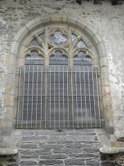 Ancienne abbaye des Jacobins - Fenêtre du collatéral nord de l'église du couvent des Jacobins de Morlaix (29).